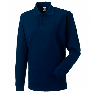 Russell Long Sleeve Pique Polo Shirt