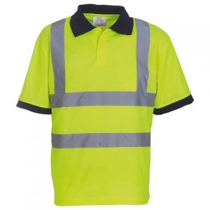Yoko HiVis Short sleeve Polo Shirt